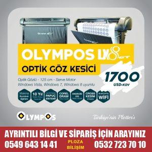 Olympos Lx8 Optik Folyo Kesici Plotter