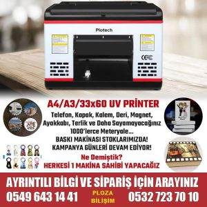 A3+ 33X60 UV Baskı Makinesi