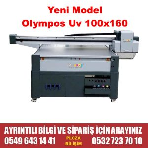 Olympos 100X160 UV Flatbed Baskı Makinası Epson DX7 Çift Kafa